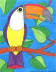 Young Rembrandts drawing for kids, toucan