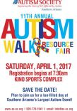 Autism Society of Southern Arizona's: Autism Walk and Resource Fair