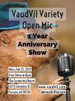 1 Year Anniversary Variety Open Mic
