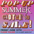 Pop-up Summer Clothing Sale