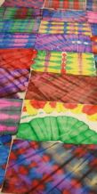 "Folk artist Susan Corl 's students make stunning papers during her fun decorative paper ""playshops"""