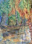 """Agua Caliente Reflection"", watercolor / Gretchen Huff"