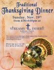 Annual Streams Thanksgiving Dinner
