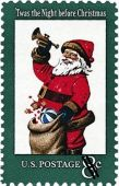 USPS Santa stamp from 1972 / Postal History Foundation