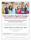 Teen Leaders Against Hunger Workshop & Volunteer Experience