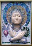 goddess masks, by Lauren Raine, now on display at the Tucson Clay Co-op / Lauren Raine