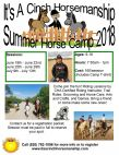 It's A Cinch Horsemanship Summer Horse Camp 2018