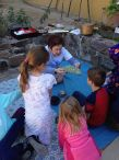 Children learn about cochineal during the Presidio Museum's Family Adventure Hour / Presidio Museum