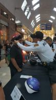 TPD and PCSO officers will help fit and distribute bike helmets courtesy of TMC / SALEF