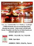 Canned Food Nights at Skate Country