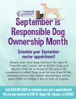 September is Responsible Dog Ownership Month