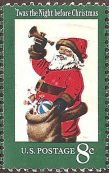 USPS Santa Claus stamp from 1972