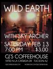 Feb.13 at GJs Coffehouse - Wild Earth and Sky Archer