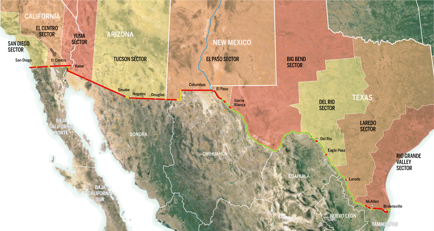 Why We Dont Need Trumps Great Great Wall Beyondthewall - Current us mexico wall map