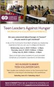 Teen Leaders Against Hunger