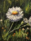 This exuberant oil painting by artist local Angela Pittenger captures the fragile beauty of small treasures.