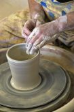 try your hand at throwing on the potter's wheel